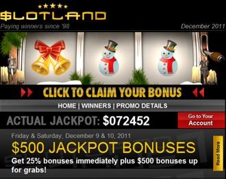 slotland xmas bonuses